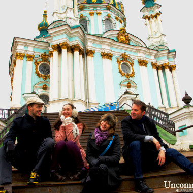 Cast of Uncommon Rhythm at St. Andrews Cathedral in Kiev